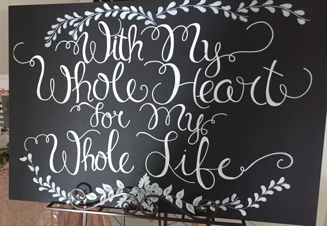 My Whole Heart Blackboard
