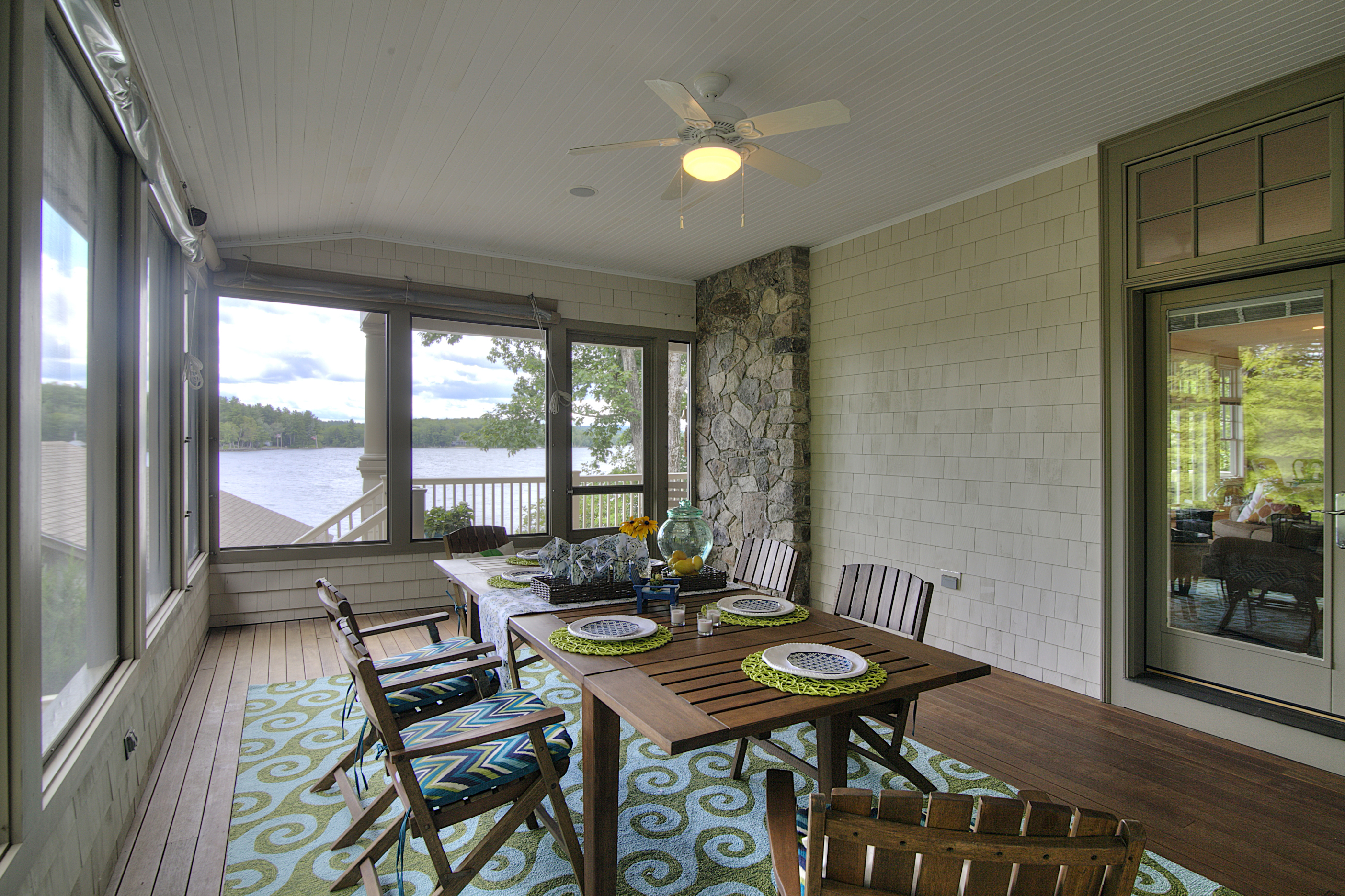 Lake house screen porch decor
