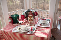 coastal holiday place setting