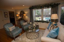 holiday decor, living room