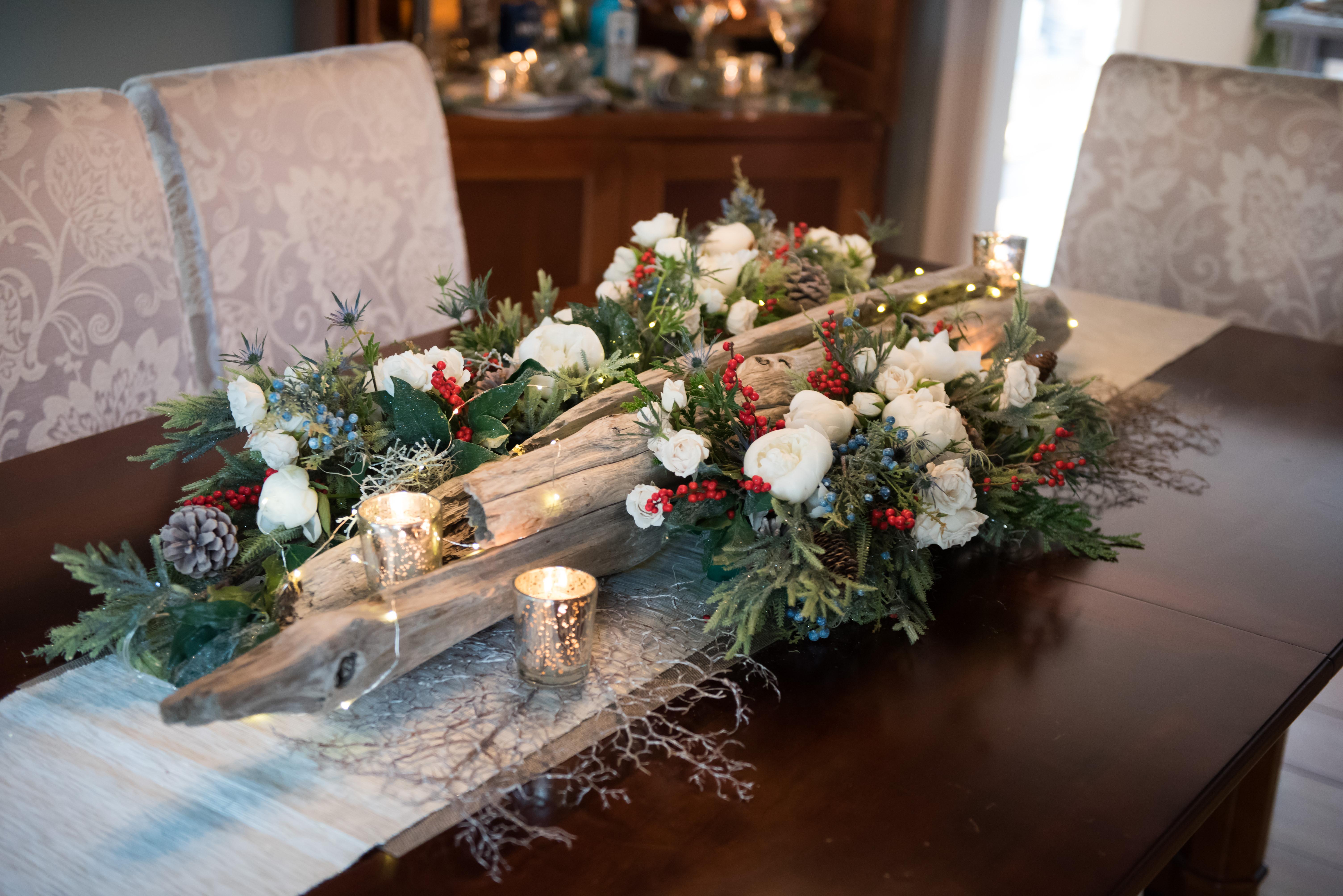 holiday dining room centerpiece