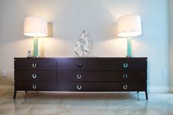 9 Drawer Ebony stained Maple dresser