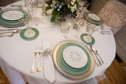 holiday dining room, place setting