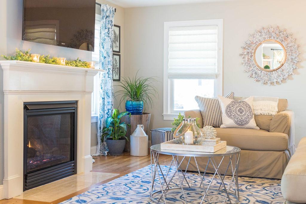coastal inspired family room