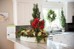 coastal holiday floral arrangement