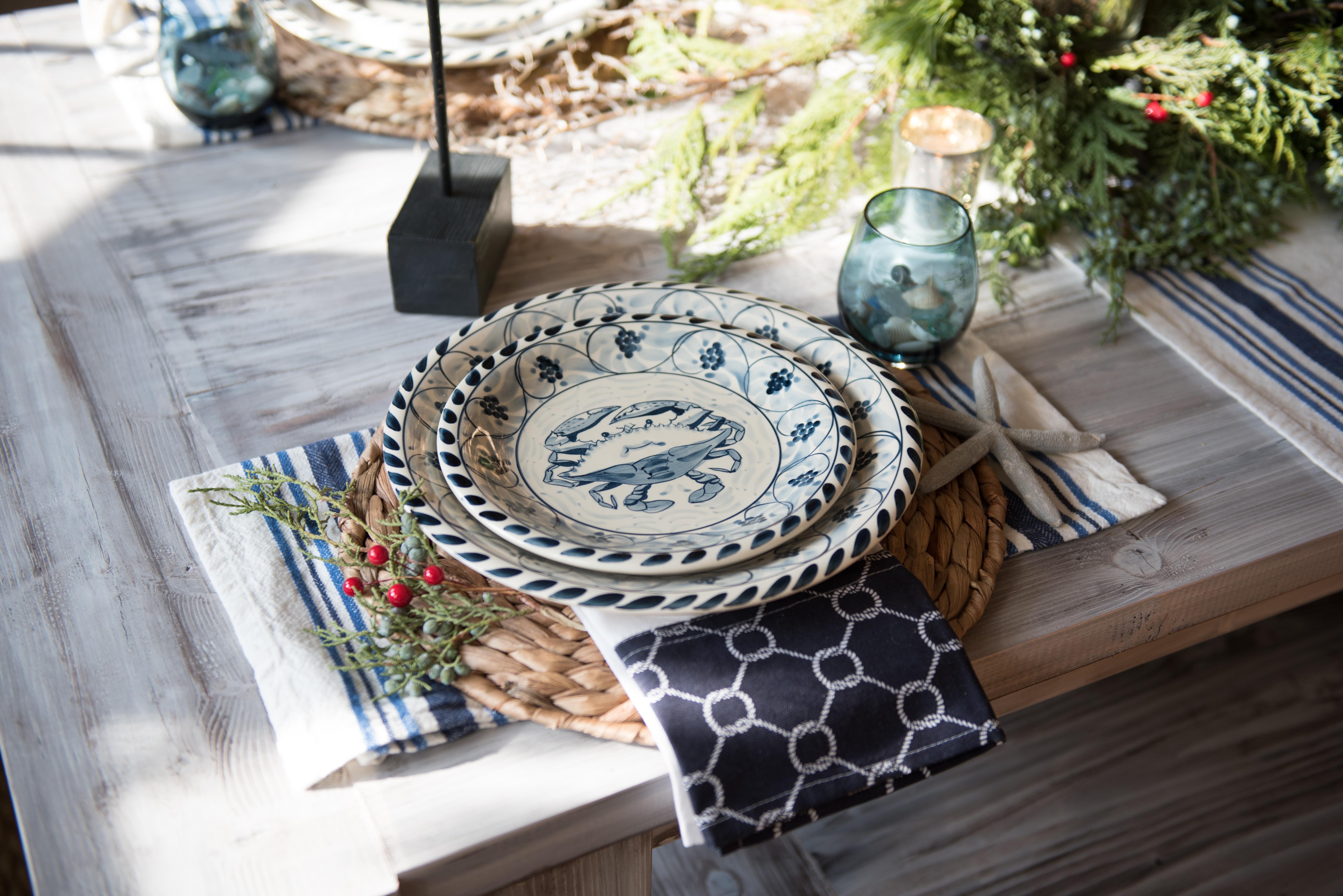 coastal inspired holiday table