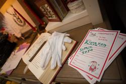 holiday decor, Santa's desk