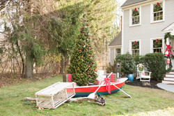 coastal outdoor holiday decor