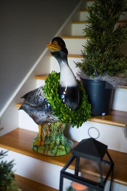 holiday decor, Christmas goose