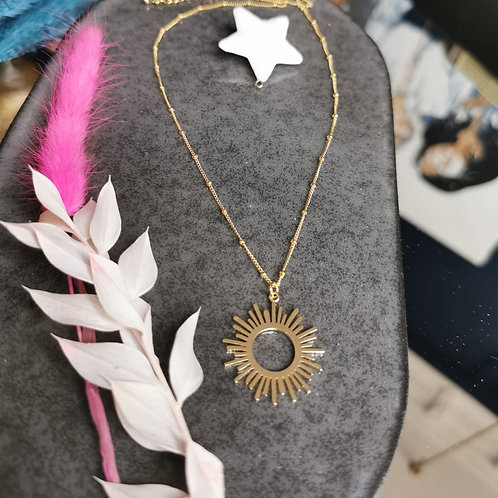 Sunshine Necklace (Gold plated)