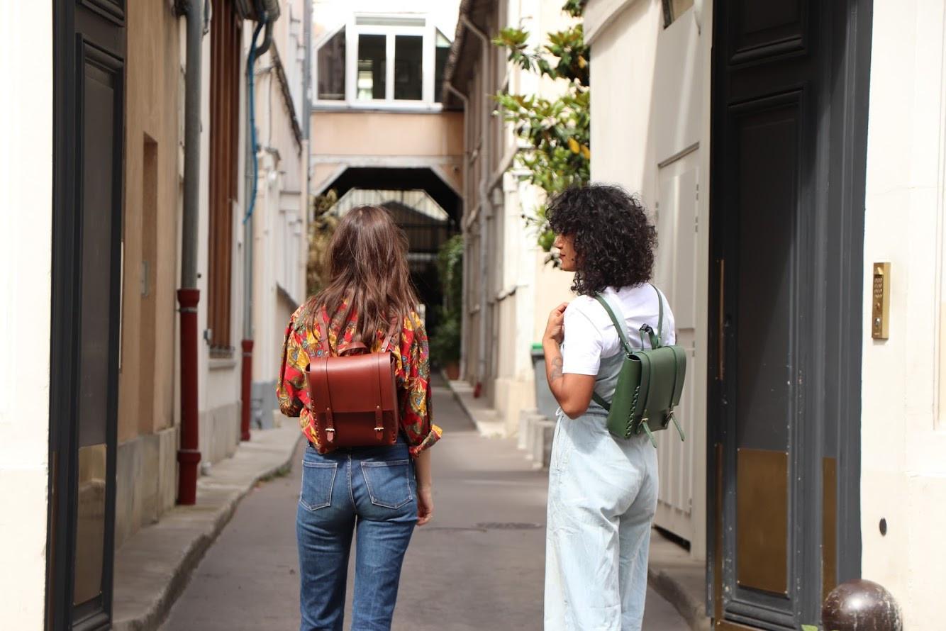 Futamacá Backpack Plum & Olive Green