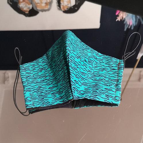 Turquoise waves Wax Mask