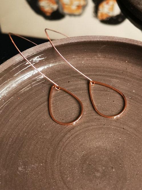 Roségold plated drop earrings