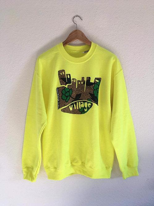 Neon Yellow Village Sweater