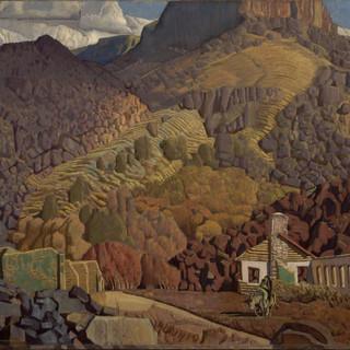Ernest L. Blumenschein Deserted Mining Camp, c.1940 oil painting, canvas Overall: 27 1/16 x 33 1/4 in. (68.7 x 84.5 cm) Gift of Helen Greene Blumenschein Harwood Collection