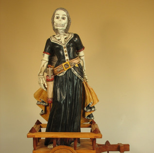 Gustavo Victor Goler Doña Sebastiana, 2006 Painted wood carving 17 1/2 × 10 × 8 in. (44.5 × 25.4 × 20.3 cm) Partial gift of Alfred J. Walker with purchase funds from Alyce Frank, the Harwood Museum Alliance, Raymond Bal & Elizabeth Kay, Brad & Fran Taylor, Gary and Barbara DeVane, and Palacio de Marquesa.