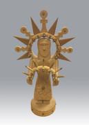 Gloria López Cordova Nuestra Señora de la Luz, 1995 Carved aspen and cedar entire piece: 17 1/2 × 9 1/2 × 7 in. (44.5 × 24.1 × 17.8 cm) Courtesy of Ron and Diane Martinez
