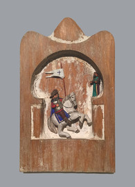 Tomasita Rodriquez Santiago de Compostella, 1994 Cottonwood or basswood, gesso, oil paint, cactus needle. entire piece: 7 1/4 × 4 1/4 × 1 in. (18.4 × 10.8 × 2.5 cm) Courtesy of the Artist