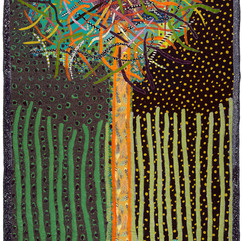 Terrie Mangat Stork's Nest 2018 Contemporary Quilt 99 x 56 in. Courtesy of the Artist