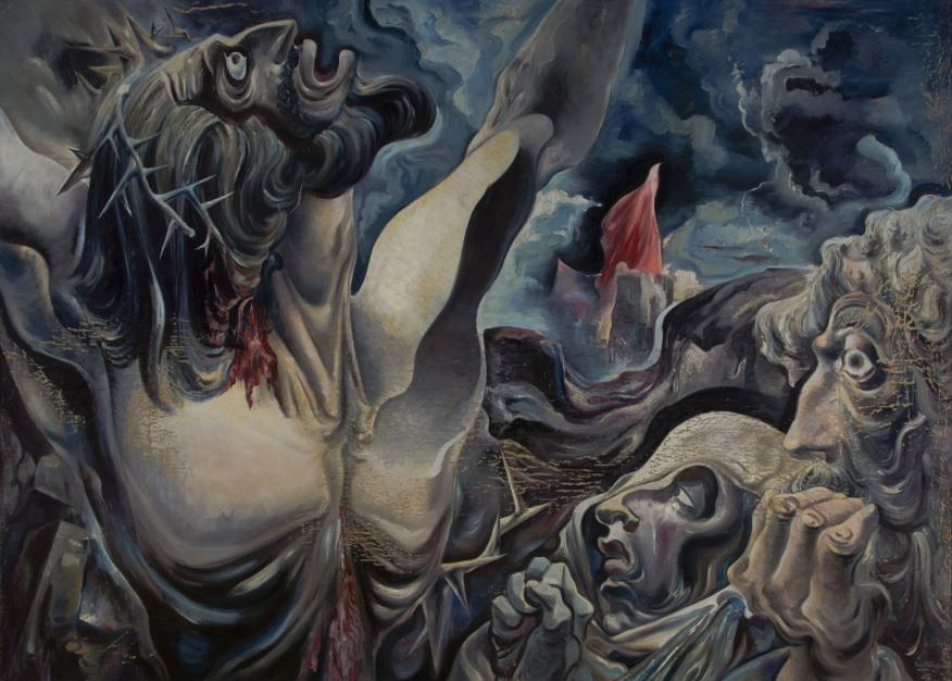 Thomas Benrimo The Crucifixion (My God, Why Hast Thou Forsaken Me?), c.1950 Oil painting Overall: 44 5/16 x 62 5/8 in. (112.5 x 159 cm) Gift of Mrs. Howard E. Wurlitzer Harwood Collection