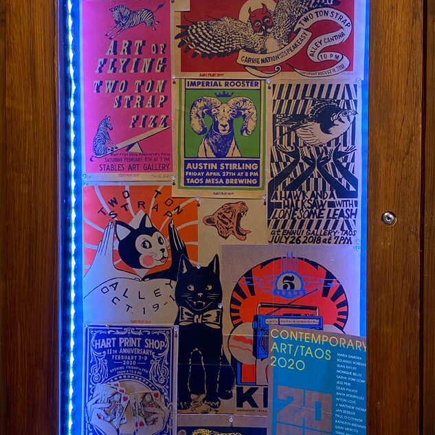 Sarah Hart Selection of Posters,  2018-2020 Screen print on recycled boxes Various dimensions