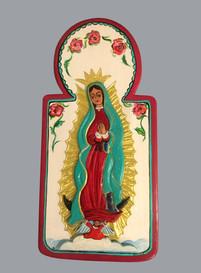 Rosina López de Short Nuestra Señora de Guadalupe, 2011 entire piece: 14 × 7 × 1 1/2 in. (35.6 × 17.8 × 3.8 cm) Courtesy of the Artist