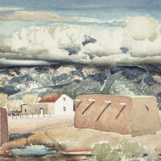 Victor Higgins Canyon Landscapes, c. 1932 Watercolor on paper Overall: 17 11/16 x 21 5/8 in. (45 x 55 cm) frame: 24 1/4 x 30 1/4 in. (61.6 x 76.8 cm) Gift of Lucy Case Harwood Harwood Collection