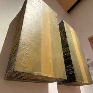 """Gray Mercer  Two Prime, 2019  Wood, steel, wax  53"""" x 57""""x 15""""  Courtesy of the artist"""