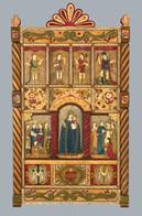 Catherine Robles Shaw La Familia de los Santos, 2005 wood, gesso, natural pigments, pinón sap varnish entire piece: 50 × 2 in. (127 × 5.1 cm) Courtesy Millicent Rogers Museum