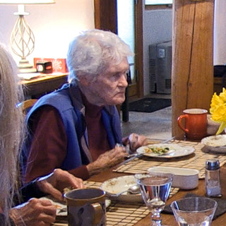 Kathleen Brennan Last Supper Stew, 2020 HD Video Still   Cynthia Eating Her Last Supper 9 min. Courtesy of the artist. In memory of Cynthia K. Homire