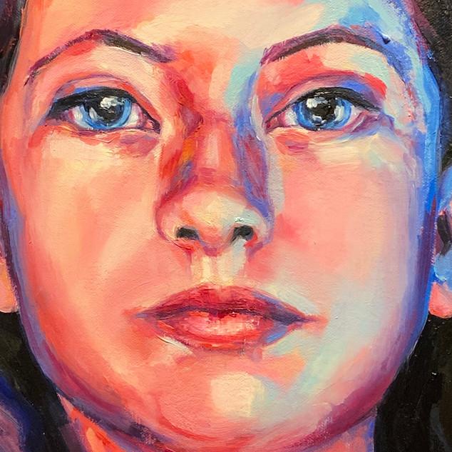 Sarah Stolar Sisters (detail) 2017 Oil on canvas 72 x 64 x 3