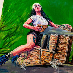 """Sarah Stolar Brittany (Suave quipuet),2019 Oil on canvas 72"""" x96"""" Courtesy of the artist photo credit - Jeff Medinas"""