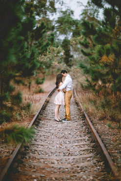 Couple Hugging Portrait
