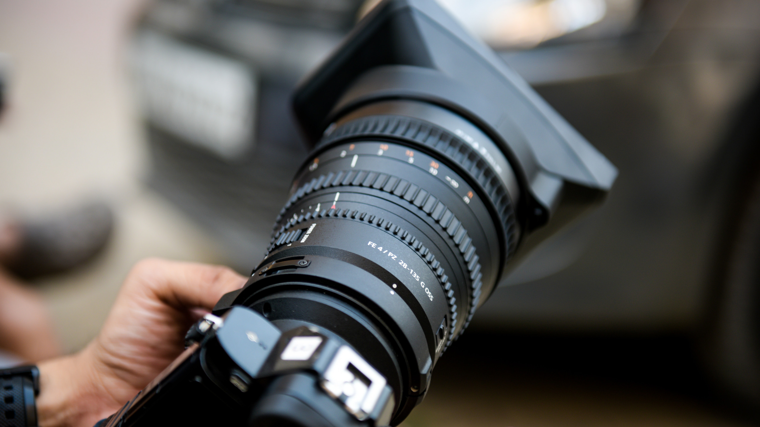 A professional event photography camera