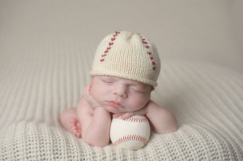 Newborn Baby Baseball photoshoot