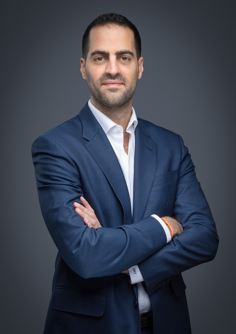 A Business man posing for a corporate headshot
