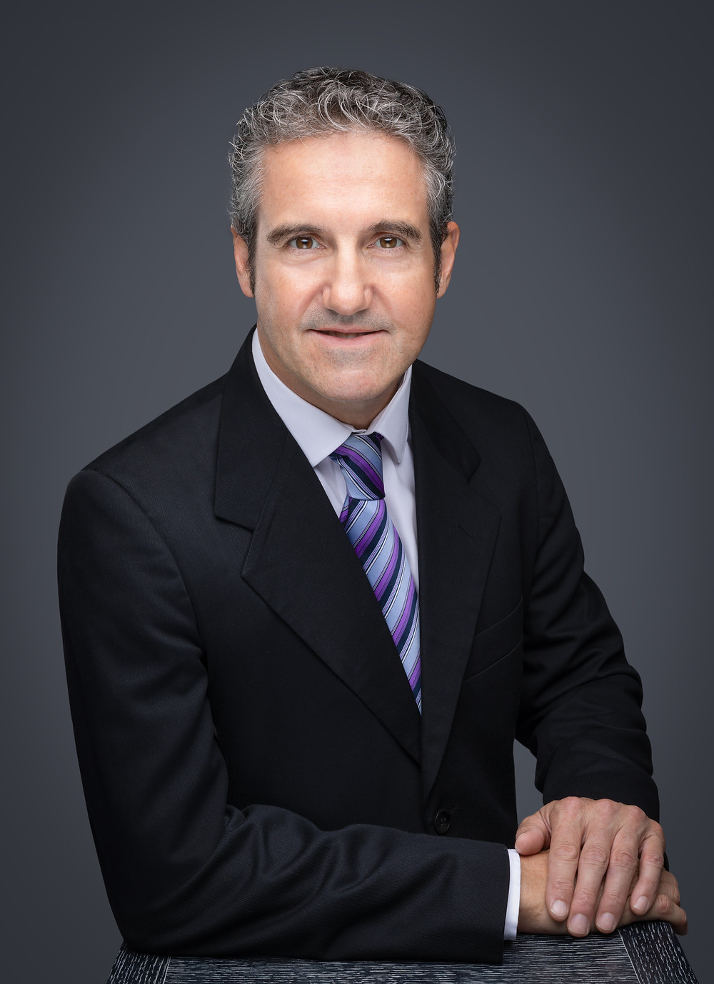 Man posing for a corporate headshot
