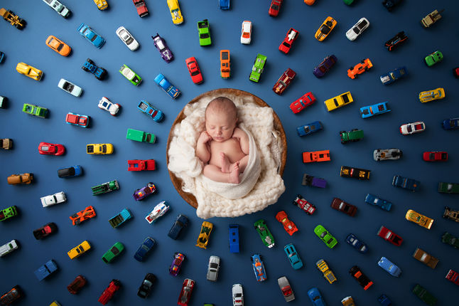 Baby Boy photoshoot with Cars
