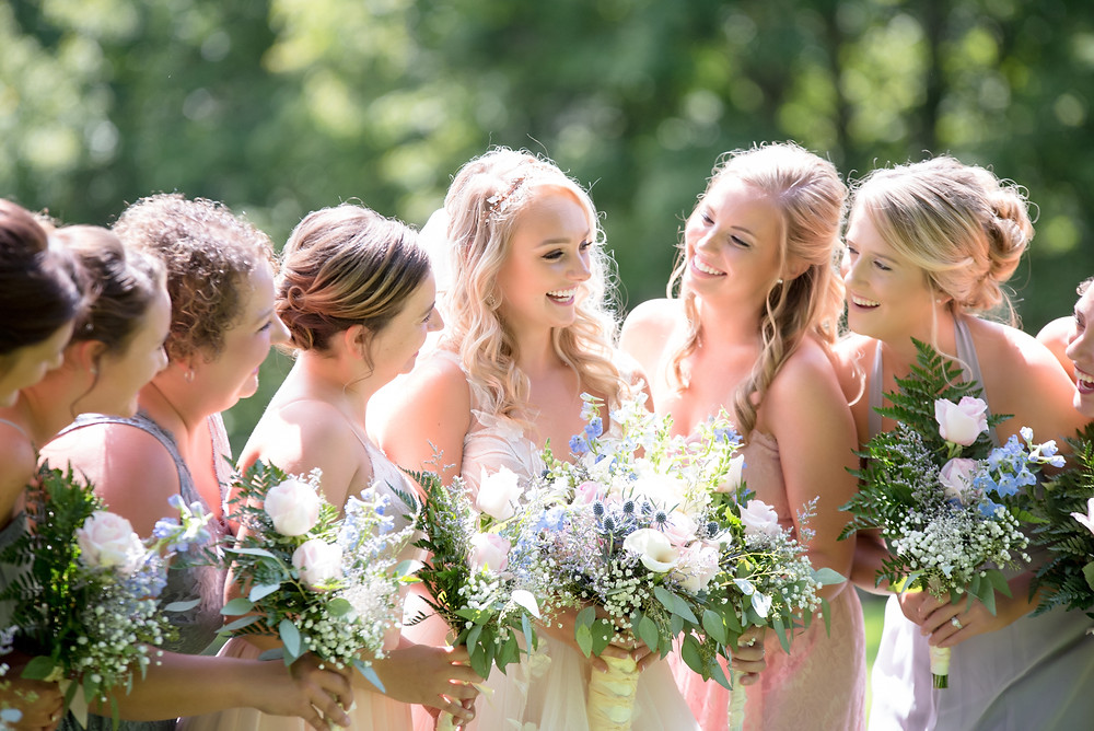 Bride with her Bride Maids