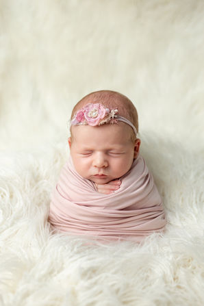 Newborn baby photography wrapped