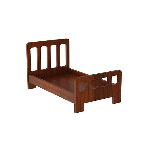 Rustic Bed - Straight Headboard