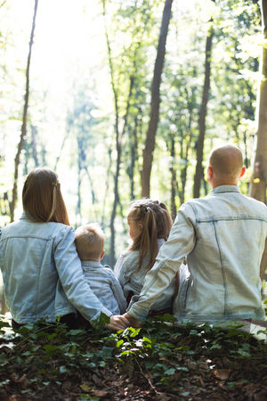 Family In The Woods