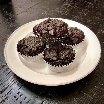Super Rich  Chocolate Raspberry Cake Muffin