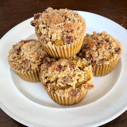 Pecan Crumble Pumpkin Spice Muffins