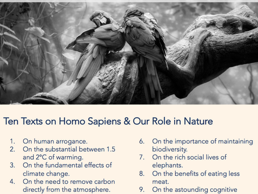 Ten Readings on Homo Sapiens and Our Role in Nature