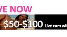 $50-$100 Live cam with Kim Carta