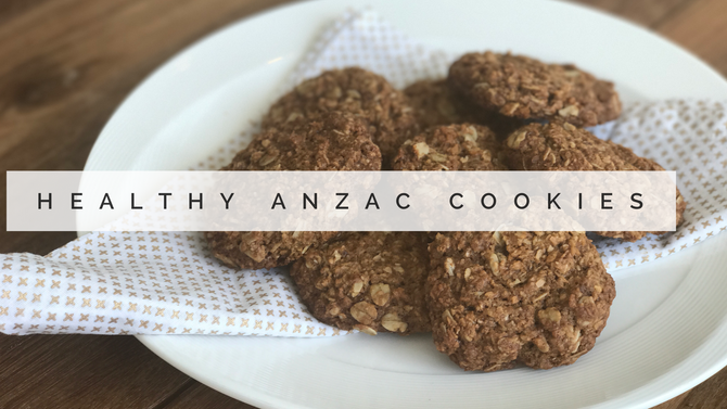 Healthy Anzac Cookies