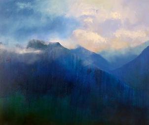 painting#art#mountains#italy#valchisone#blue#light
