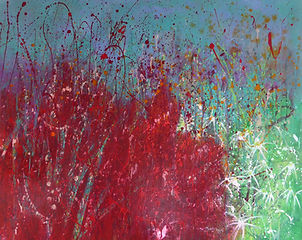 art#painting#flora#flowers#red#daisies