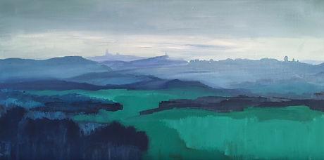 art#painting#landscape#italy#monferrato#blue